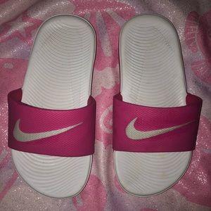 Hot Pink Nike Slides-Size 11 girls